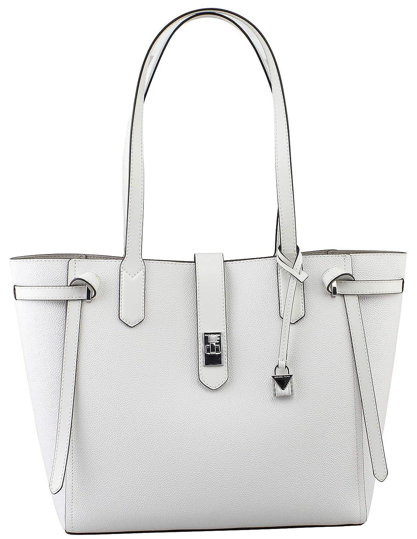 wholesale dealer order dirt cheap MICHAEL KORS CASSIE LARGE BAG LEATHER TOTE SATCHEL OPTIC WHITE