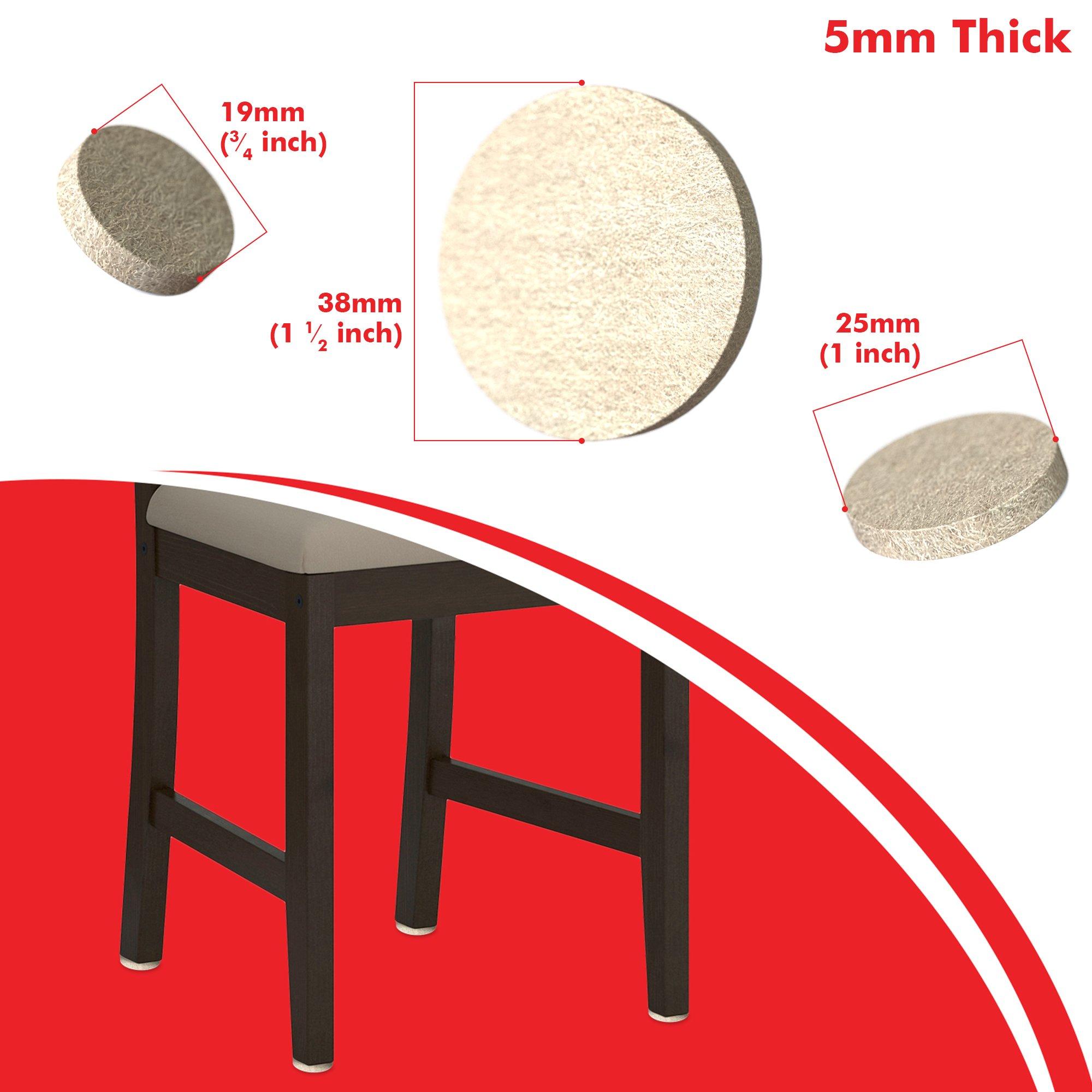 Simala Premium Furniture Pads 124 Pack 60 Heavy Duty Self