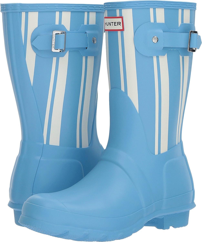 Hunter Womens Original Garden Stripe Short Rain Boots