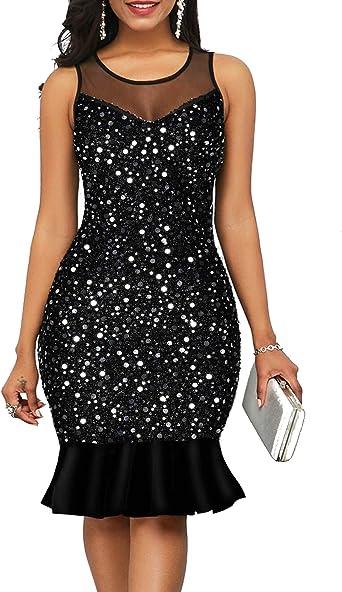 Short Black Party Dress,Little Black Sequin Dress,Black Sequin Bridesmaid Dress,Party Dress Sheath Sparkly,Sequin Dress Under 100