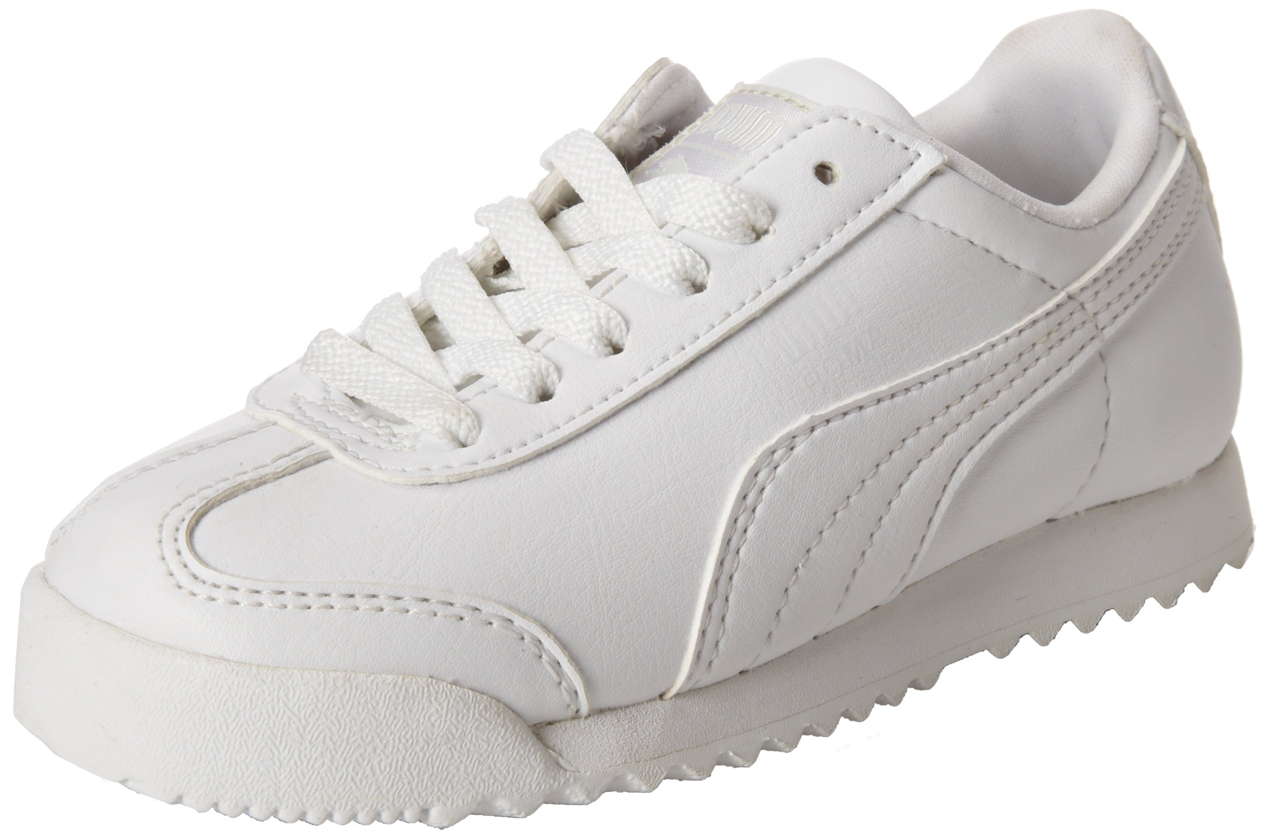 PUMA Roma Basic Kids Sneaker (Toddler/Little Kid/Big Kid) , White/Light Gray, 1.5 M US Little Kid