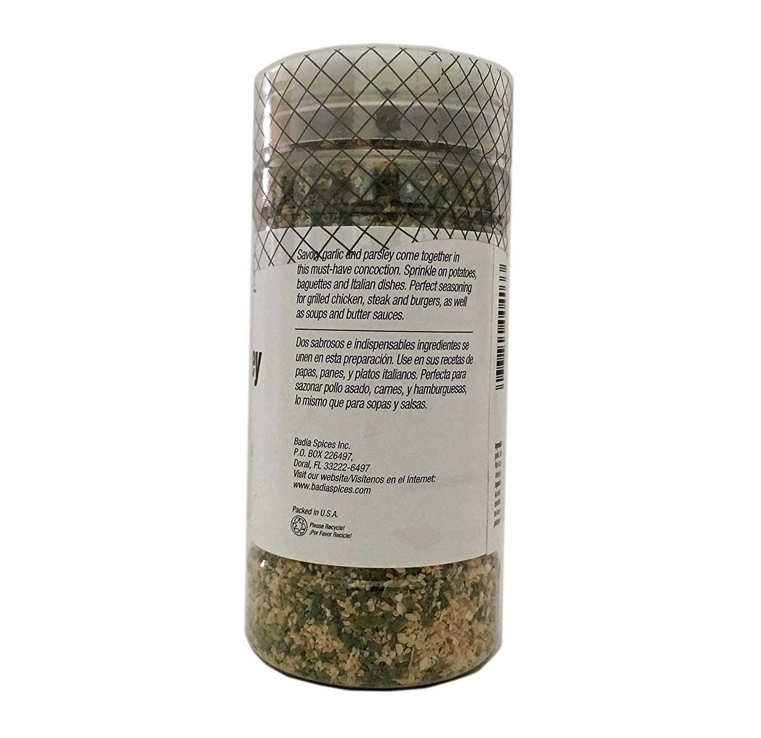 Amazon.com : 5 oz-Bottle Ground Garlic and Parsley Seasoning/Ajo Molido y Perejil Kosher : Grocery & Gourmet Food