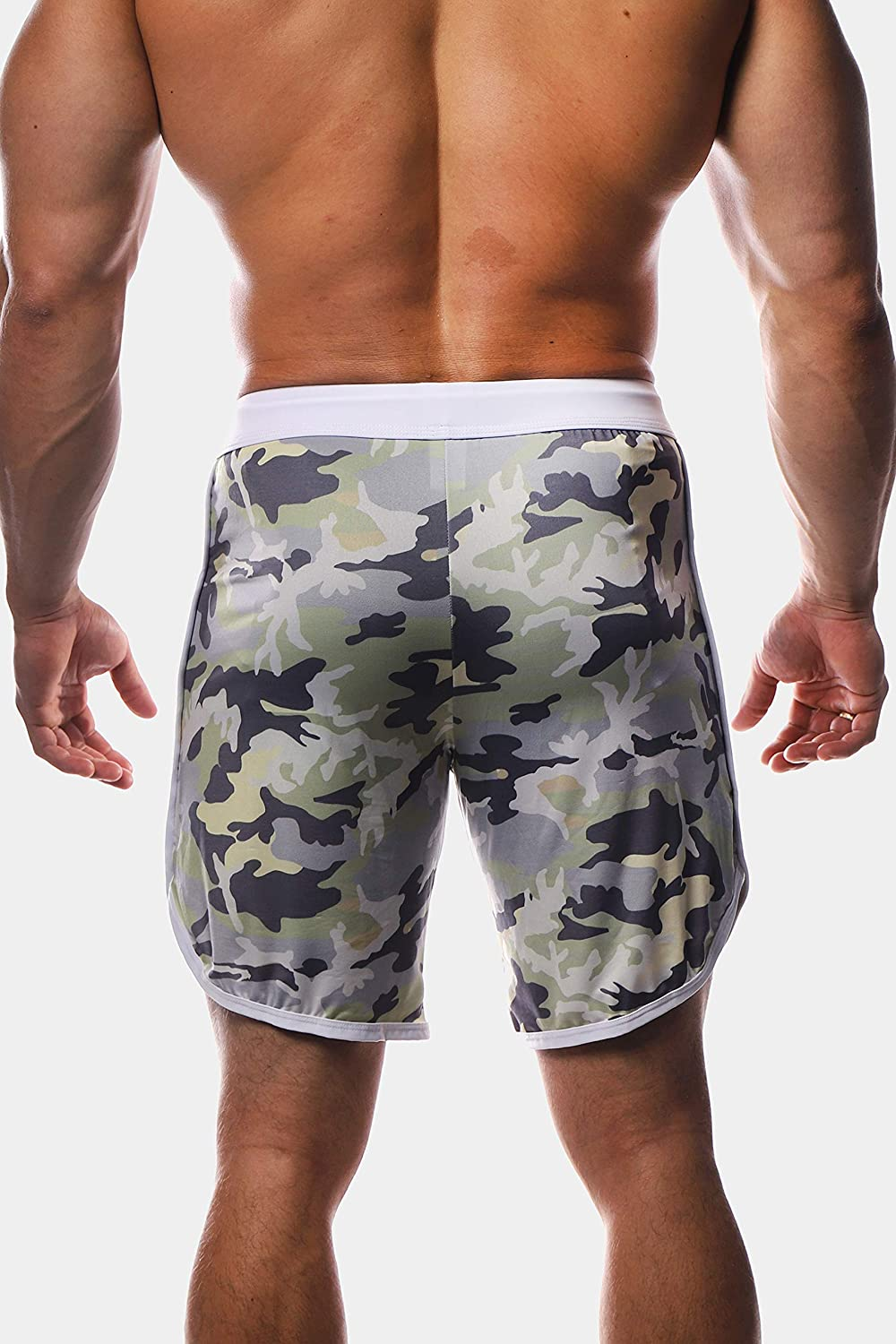 Jed North Mens Active Bodybuilding Workout Gym Running Shorts