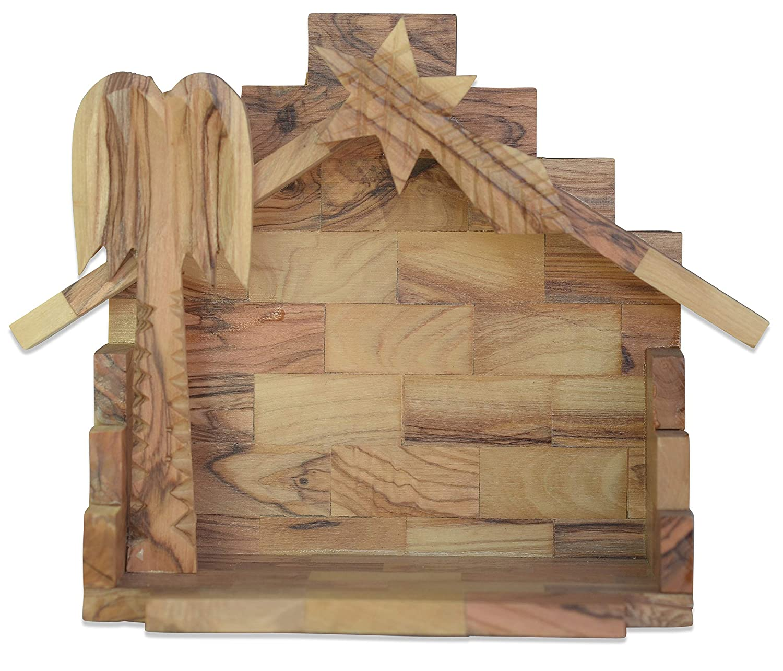 Figura Santa Stable BETHLEHEM. Original quality! Height 20 cm. Handmade from olive wood in Bethlehem.