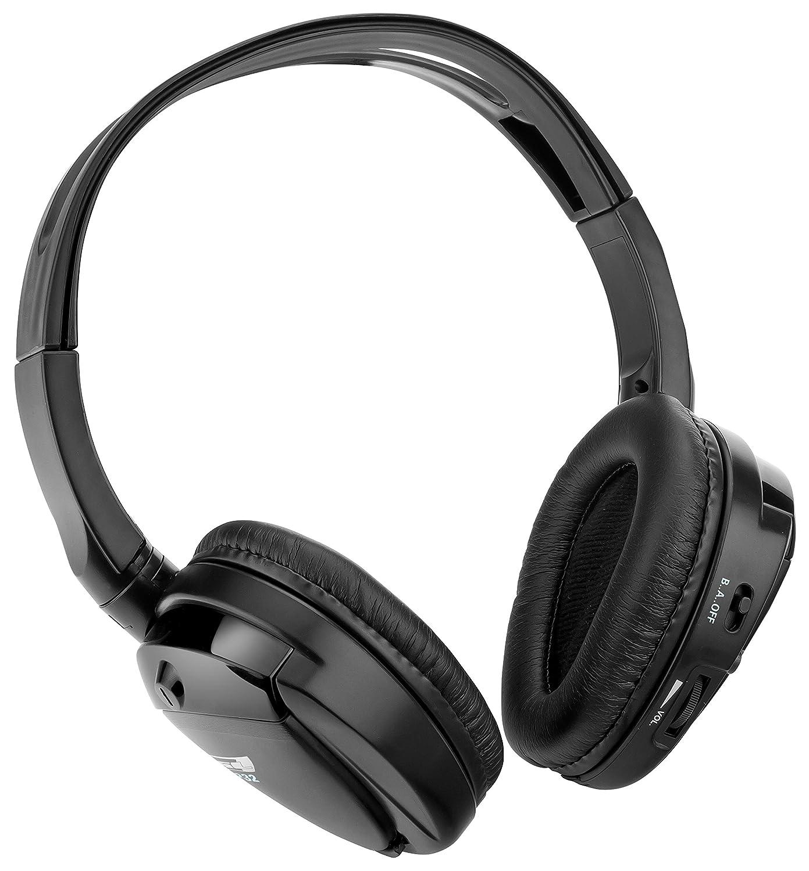 Black 7.50 x 7.00 x 2.00 Sound Storm Laboratories SHP32 Dual Channel Infrared Foldable Cordless Headphone 7.50 x 7.00 x 2.00