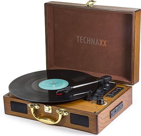 Technaxx TX-101 - Tocadiscos (Tocadiscos de tracción por Correa ...