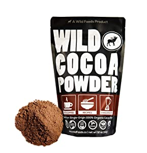 Wild Organic Cocoa Powder Unsweetened from South America - Single-Origin Keto Chocolate Baking Powder for Cooking - Sugar Free, Non Dutch, Gluten Free, Raw Superfood Powder (12 oz)