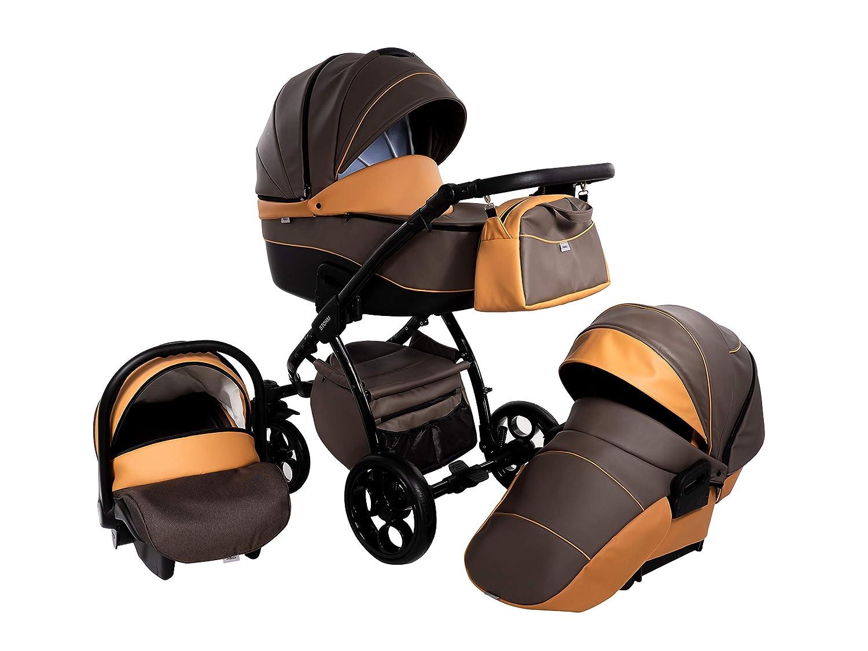 S1 Kinderwagen Babywagen Kombikinderwagen Zeo Storm 3in1 Komplettset mit Zubeh/ör 0-3 Jahre 0-15 kg Insektenschutz Netz Einkaufstasche Regenschutz Getr/änkehalter Buggy Autositz