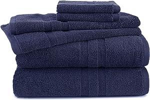 Martex Purity Towel Set, Bath, Estate Blue