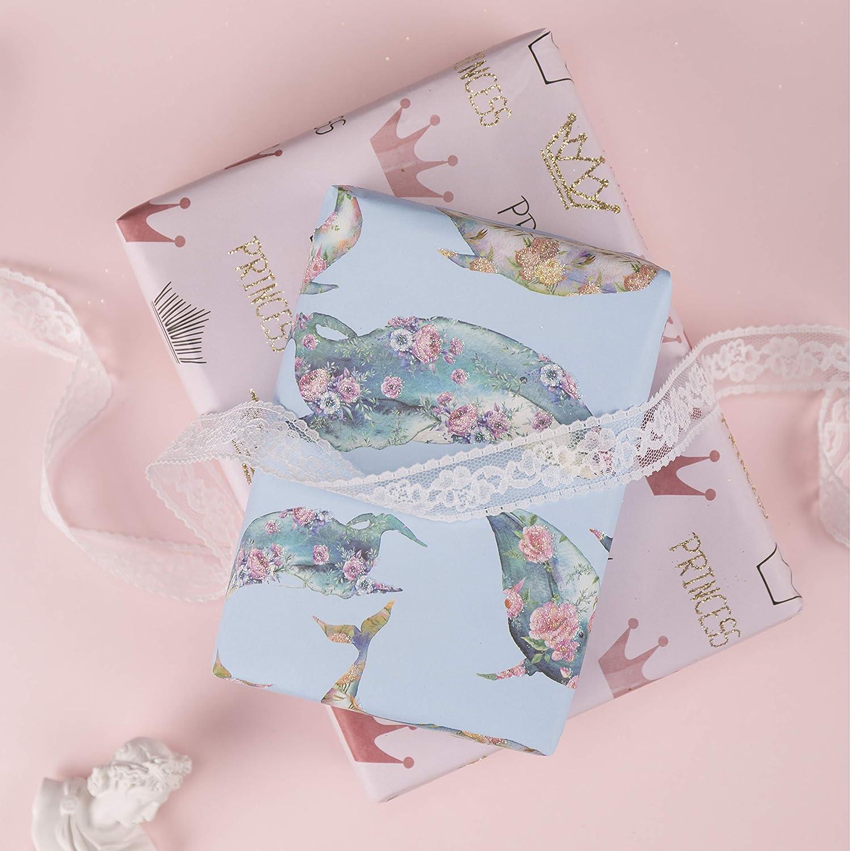 44,5 Cm X 70 Cm Per Foglio Flamingo//Piante//Banana//Fragola//Limone//Foglia Design Estivo Per Compleanno Baby Shower 6 Fogli RUSPEPA Foglio Di Carta Da Regalo Vacanza