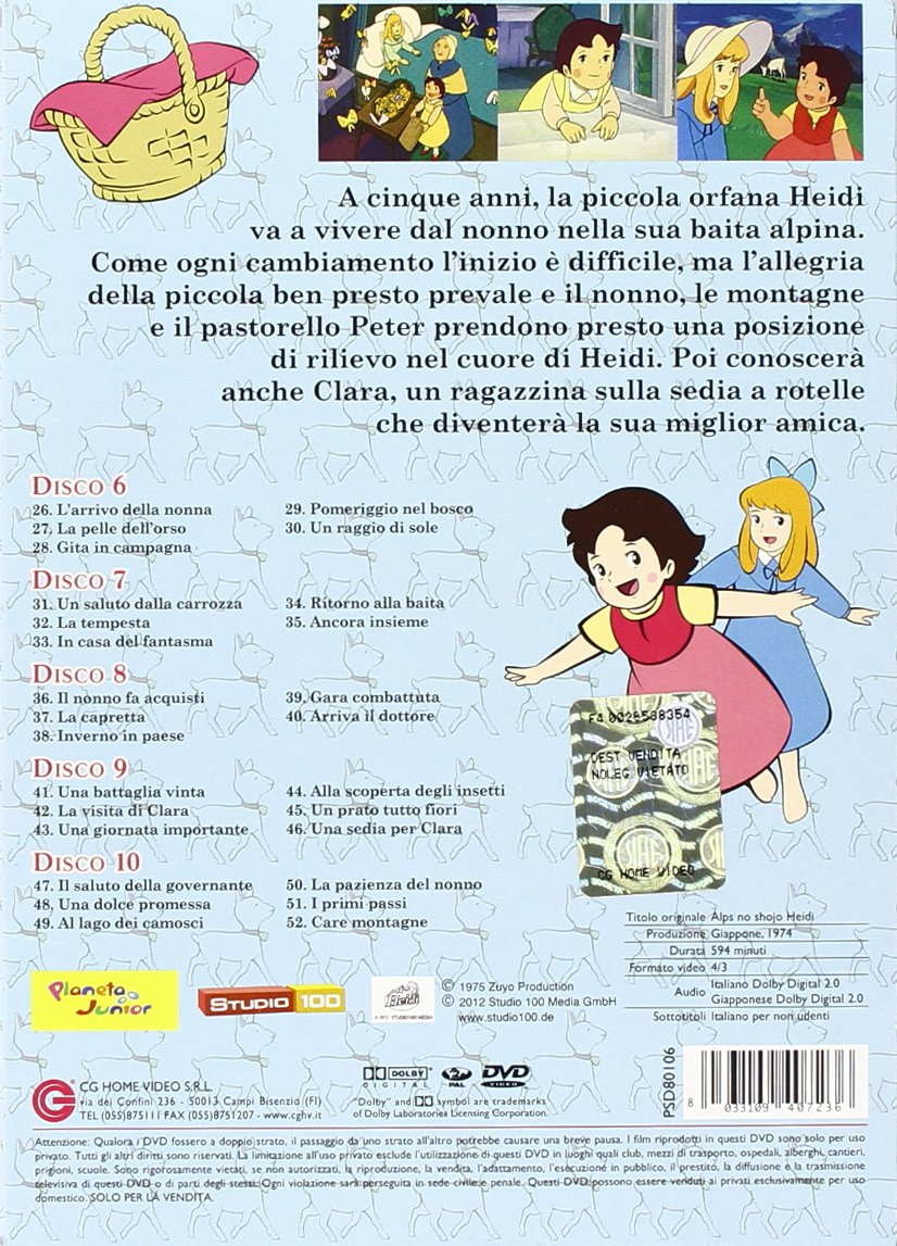 Amazon.com: Heidi #02 (Eps 26-52) (5 Dvd) - IMPORT: animazione, isao takahata: Movies & TV
