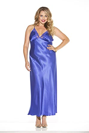 ab83b6d103b Shirley of Hollywood Women s Size Plus Charmeuse and Lace Long Gown