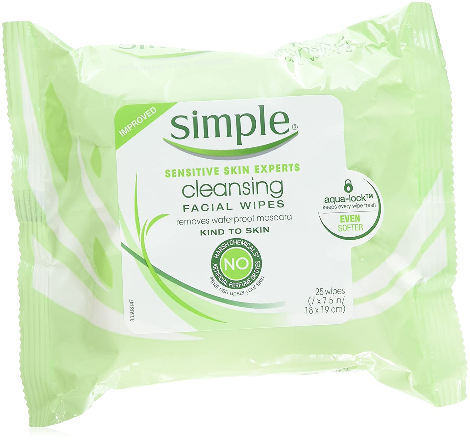 Simple Facial Wipes Twin Size 50ct Simple Facial Wipes Twin Pack 50ct