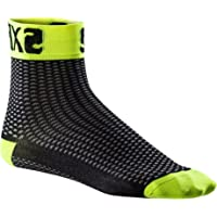 SIX2 Calza Corta FLUO-39/42 Unisex Adulto, Yellow Fluo, 39/42