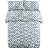 Honeymoon 1600T Soft Brushed Microfiber 3-Piece King Duvet Cover Set, Adriatic Blue