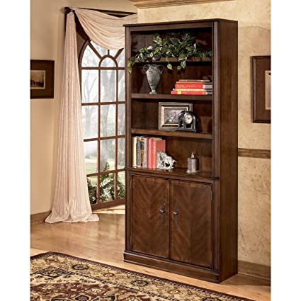 Amazon Com Hamlyn Large Door Bookcase By Ashley Furniture Kitchen