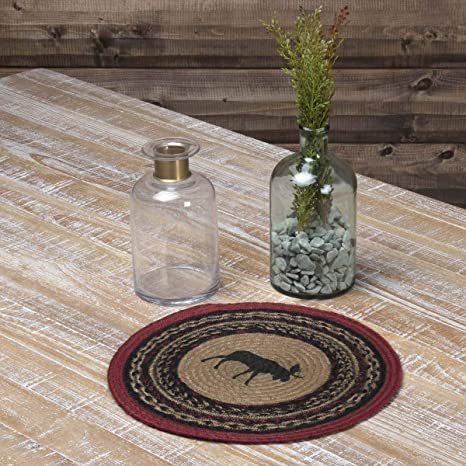 Braided Moose Table Centerpiece Runner Rustic Primitive Country Lodge Cabin Gift