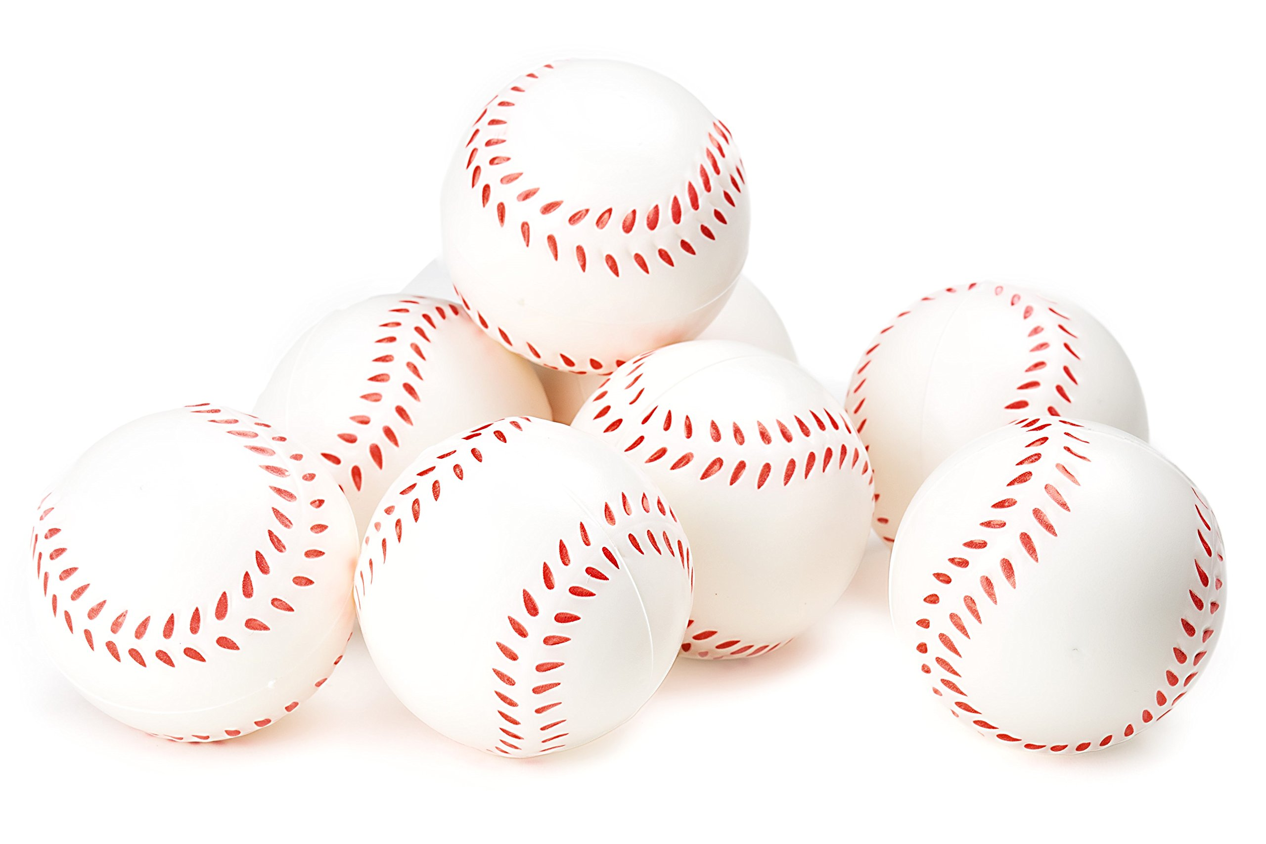 Baseball Sports Themed 2.5-Inch Foam Squeeze Balls for Stress Relief, Relaxable Realistic Baseball Sport Balls - Bulk 1 Dozen by Neliblu (Image #1)