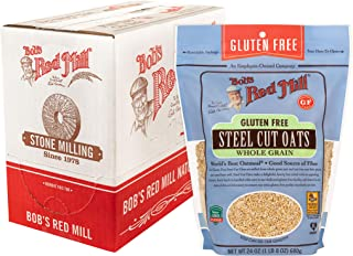 product image for Bob's Red Mill Gluten Free Steel Cut Oats, 24 Ounce (Pack of 4)