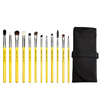 Bdellium Tools Professional Makeup Studio Line Eyes 12pc  Brush Set with  Roll-Up Pouch