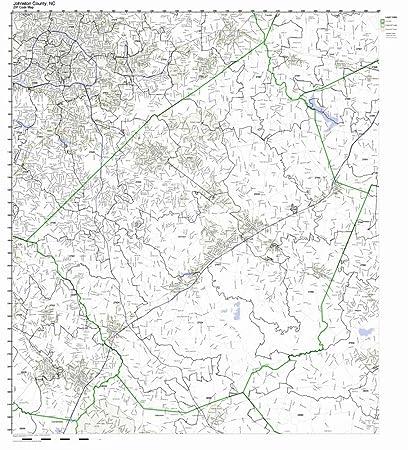 Amazon Com Johnston County North Carolina Nc Zip Code Map Not