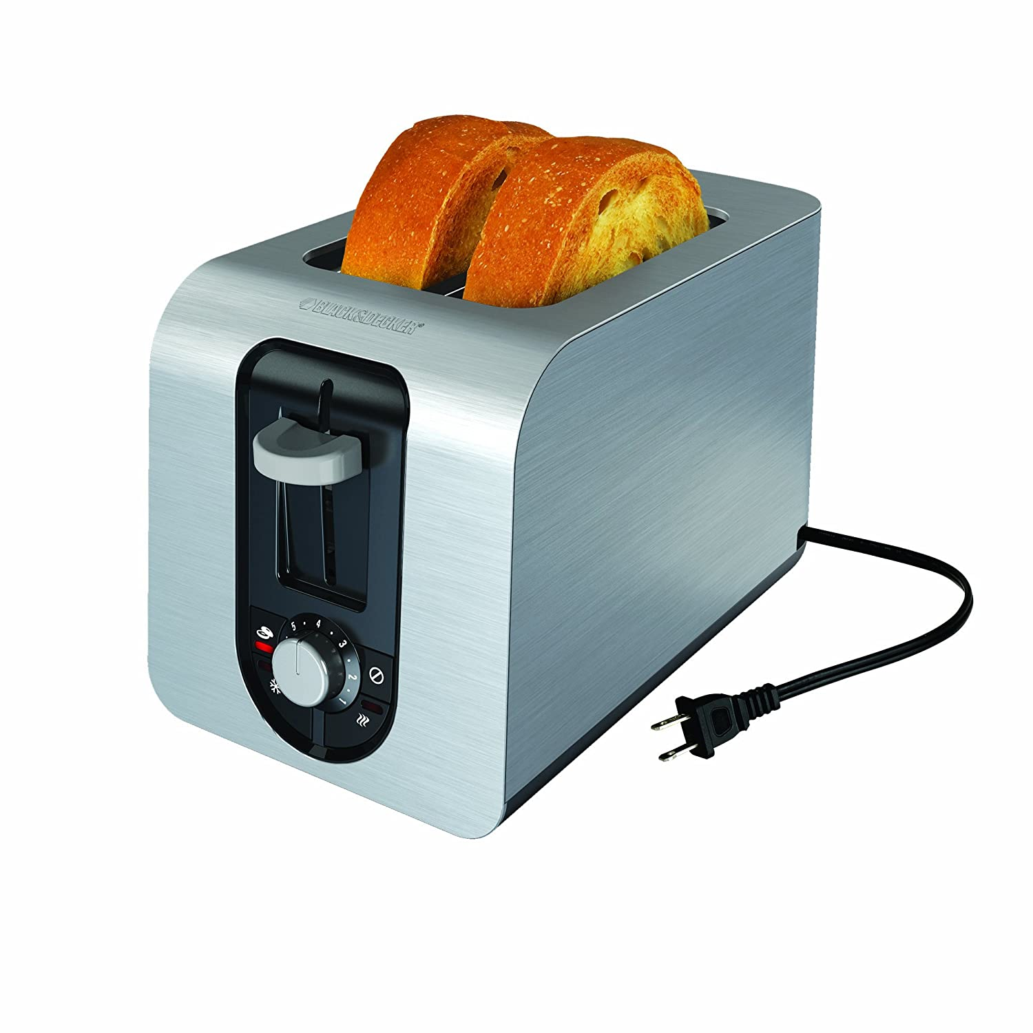 Amazon.com: BLACK+DECKER TR6341S 4-Slice Toaster, Bagel Toaster ...