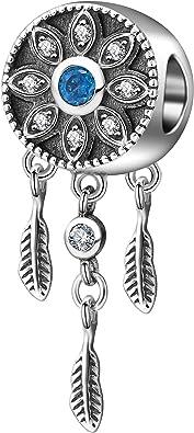 Spiritual Dreamcatcher Charm Genuine 925 Sterling Silver