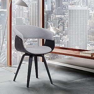 Armen Living Summer Dining Chair, Grey
