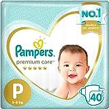Fraldas Pampers Premium Care P 40 Unidades, Pampers