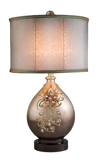 Amazon.com: OK Lighting Table Lamp, Sapphire Rose: Home & Kitchen
