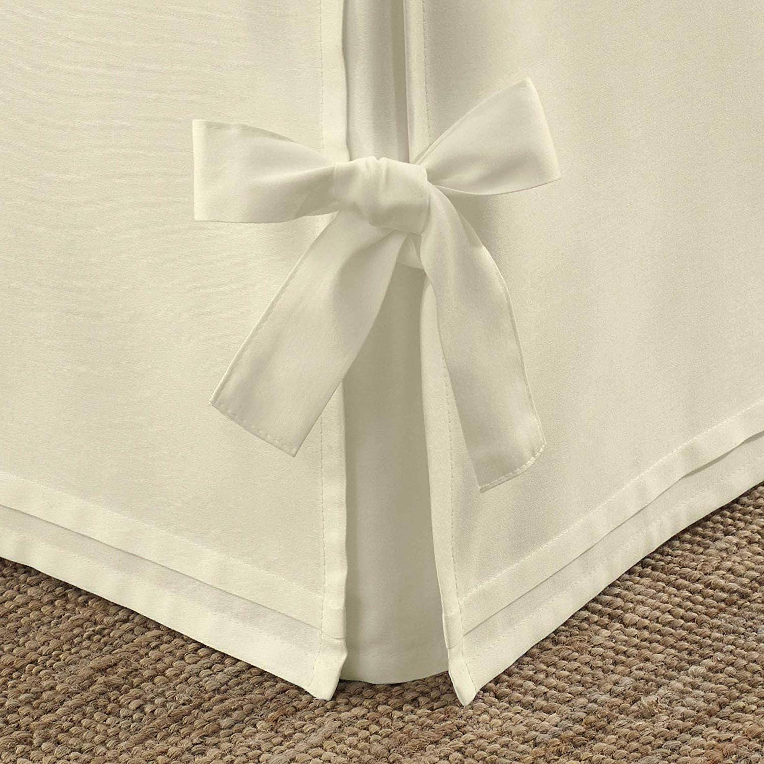 Luxurious Looking Split Corner Tie Bed Skirt Twin Size 1-Pcs 20 Inch Drop Length-600TC 100/% Natural Cotton-Easy Fit /& Fade Resistant Ivory Solid