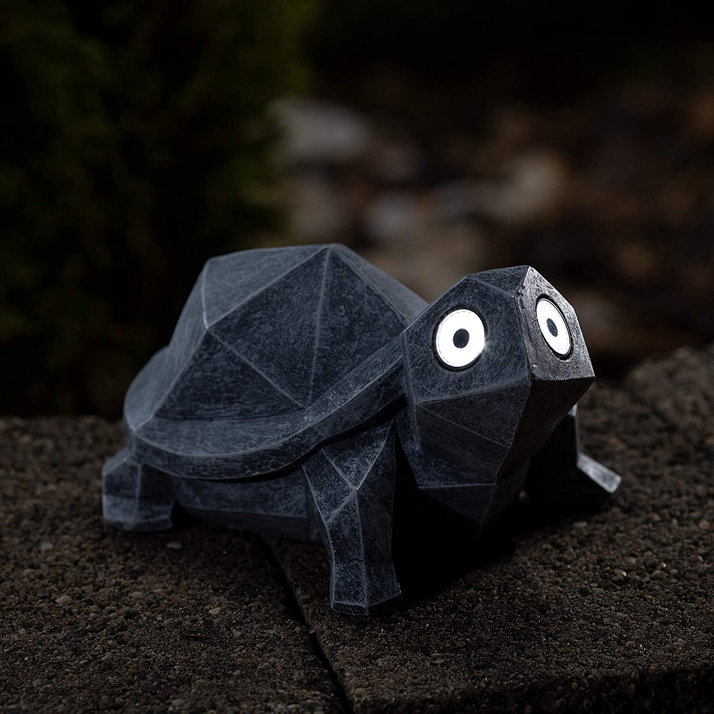 VP Home Geo Turtle Solar Powered LED Outdoor Decor Garden Light