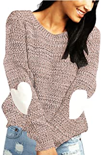 : shermie Crew Neck Sweaters for Women Long Sleeve