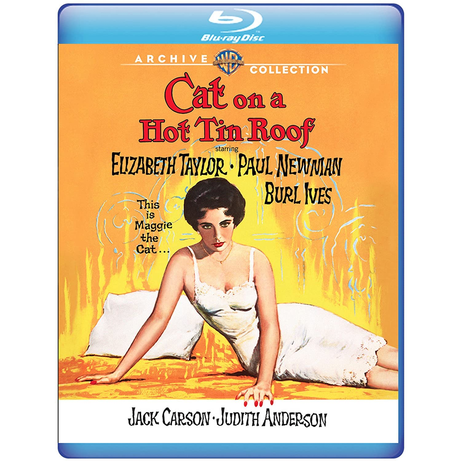 Amazon.com: Cat On A Hot Tin Roof (1958) [Blu Ray]: Elizabeth Taylor, Paul  Newman, Burl Ives, Jack Carson, Judith Anderson, Richard Brooks: Movies U0026 TV