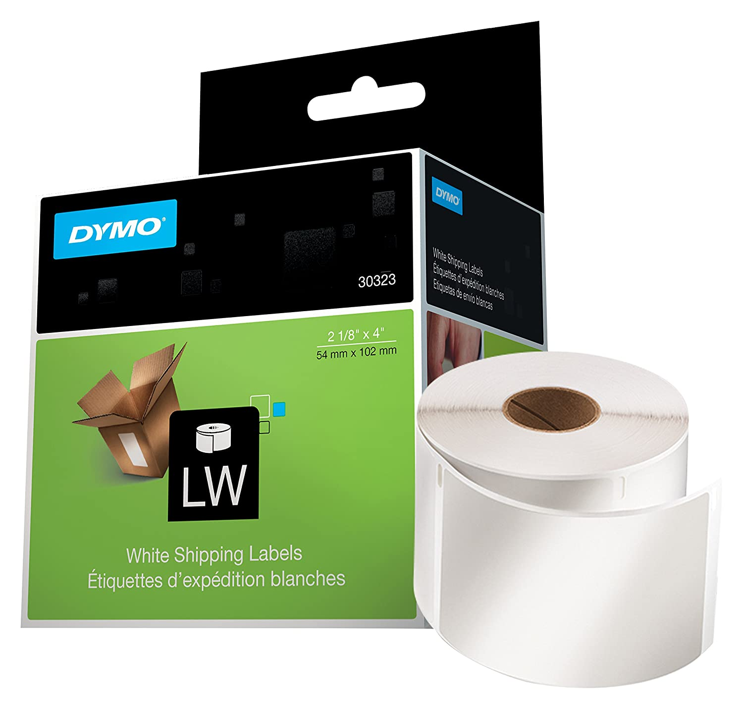 DYMO LaberWriter Standard Shipping Labels for LabelWriter Label Printers, 2 1/8- by 4-inch, White, Roll of 220 (30323) Sanford Brands Canada Office Supplies