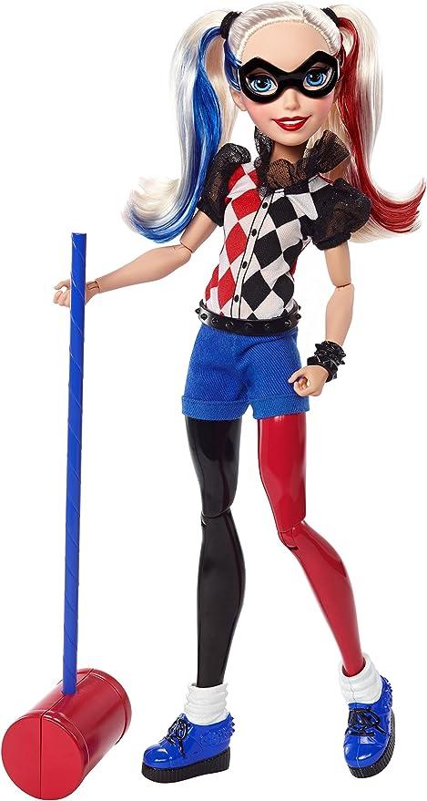 """DC Super Hero Girls Harley Quinn Action Doll 12/"""""""