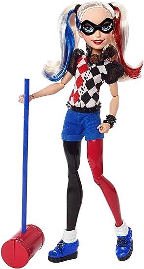 a7a5351d9c1 Mattel DLT65 - DC Superhero Girls Harley Quinn 12 Inch Action Figure with  Mallet - Batman Villian Doll  DC Comics  Amazon.co.uk  Toys   Games