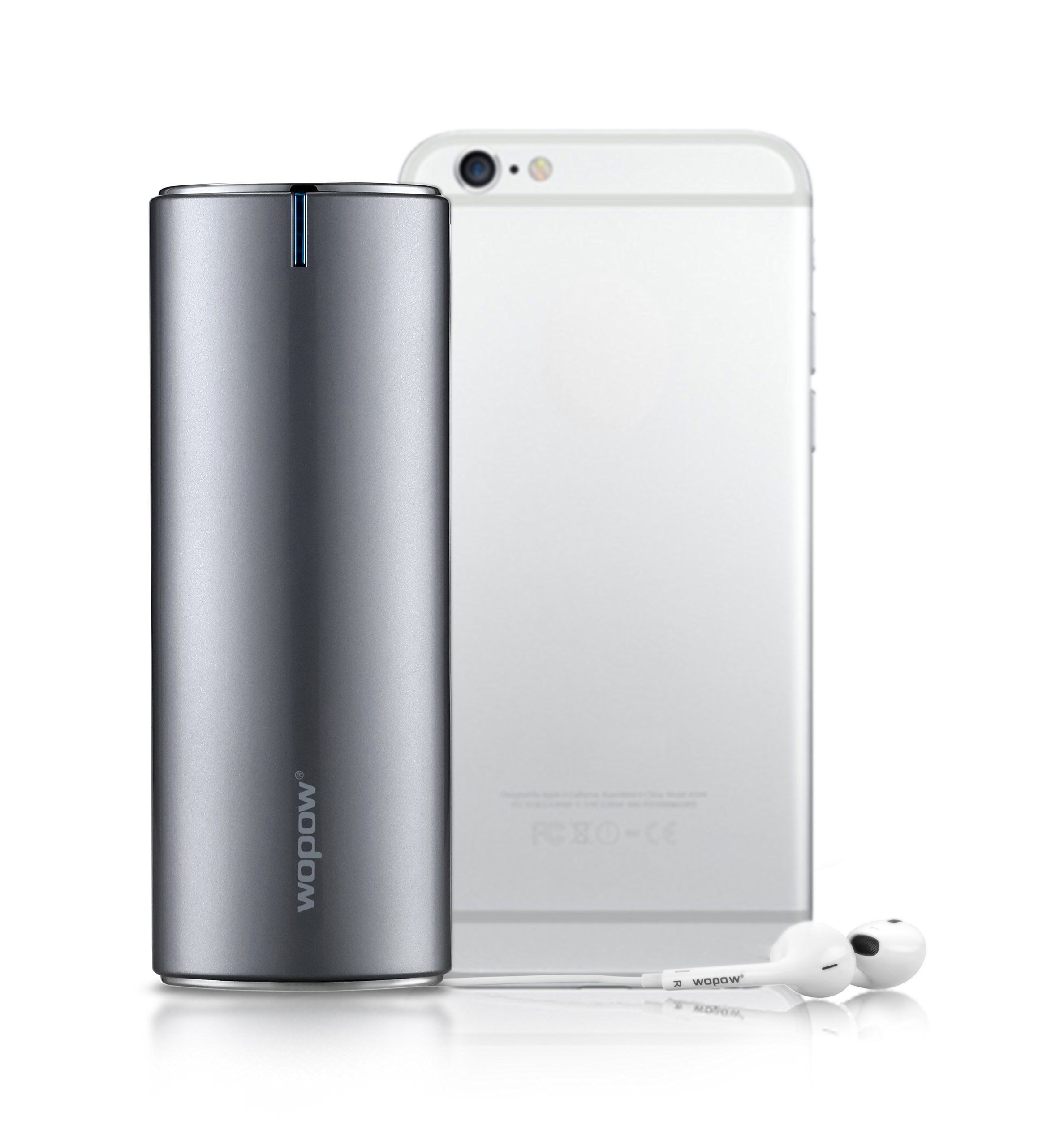 20100mah Portable Power Bank, WOPOW PD506+ LED Light External Battery Fast Charger for Samsung Galaxy