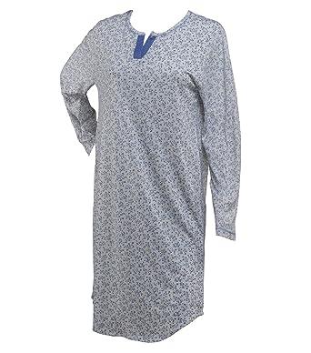 5b5016b39a Waites Ladies 100% Jersey Cotton Nightdress Long Sleeved Floral Nightie UK  10 12 (