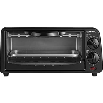 Courant TO 621K 2 Slice Compact Toaster Oven With Bake Tray And Toast Rack
