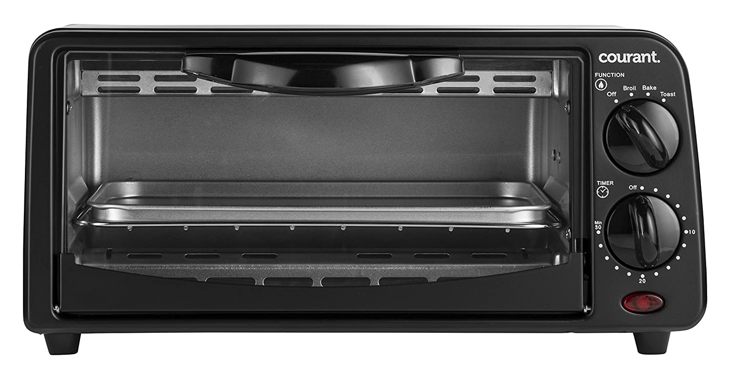 Courant TO-621K 2 Slice Compact Toaster Oven with Bake Tray and Toast Rack, Black by Courant   B018K1BVVW