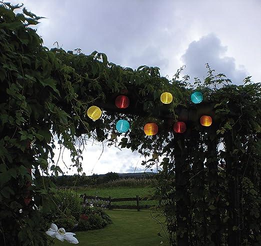 Fiesta de alta calidad – Guirnalda solar, longitud total 470 cm ...