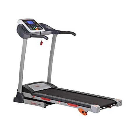 side facing sunny health & fitness treadmill