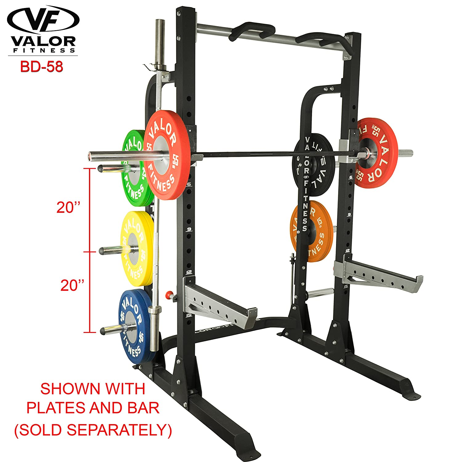 Amazon ValorPRO BD Half Rack with Plate Storage Sports