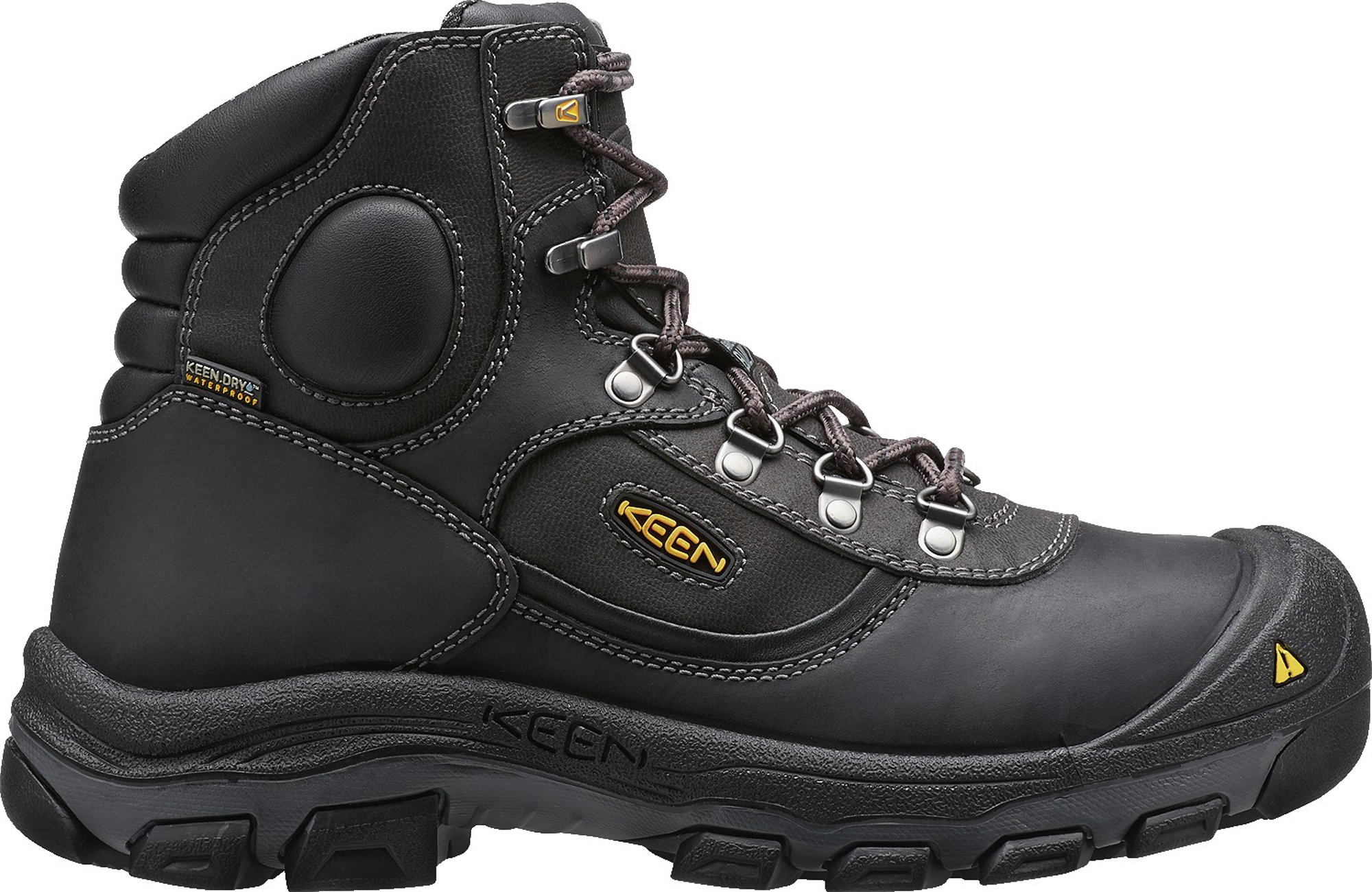 KEEN Utility Men's Leavenworth Internal Met 6 inch Work Boot, Black, 11 D US