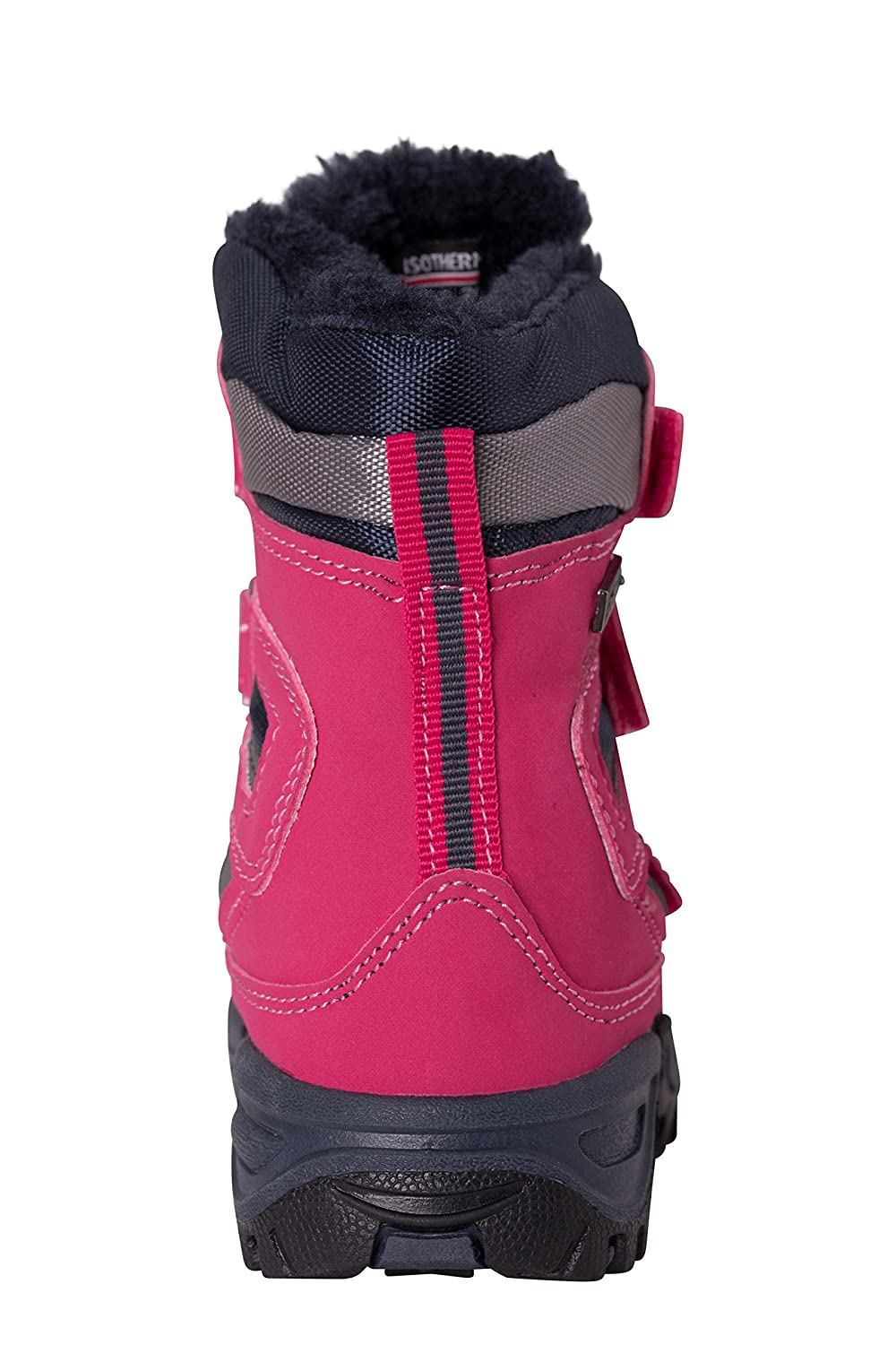 Hook /& Loop Fittings Mountain Warehouse Chill Junior Waterproof Snow Boots Breathable Mesh Upper for Cold Winter Weather Isotherm Heat Retention Technology