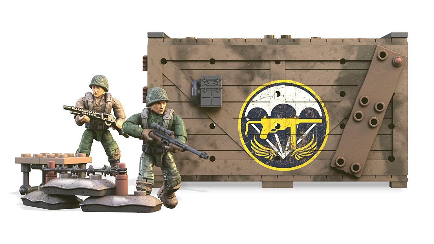 Amazon.com: Mega Construx Call Of Duty WWII Armory Shipment Dom Building Set: Toys & Games