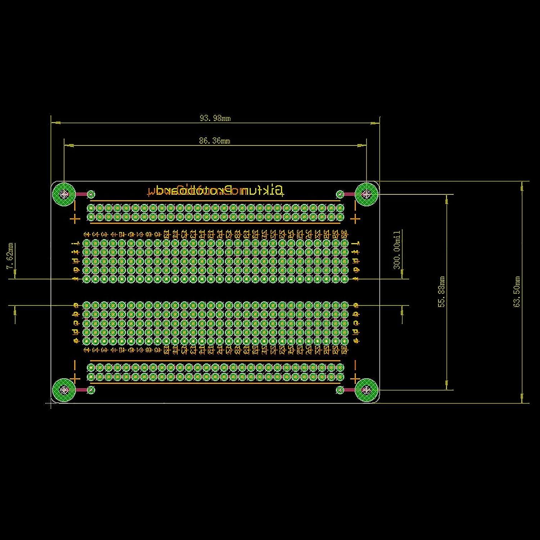 Gikfun Solder Able Breadboard Gold Plated Finish Proto Board Pcb Diy 10 Pcs 50mmx70mm Single Side Copper Cover Circuit Stripboard Kit Arduino Pack 5pcs Gk1007c Electronics