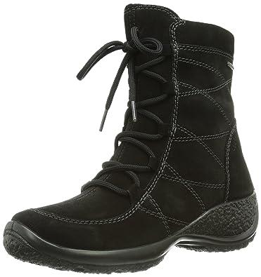 LEGeRO Women's MOCC Black Leather Boots 7.5 D(M) US