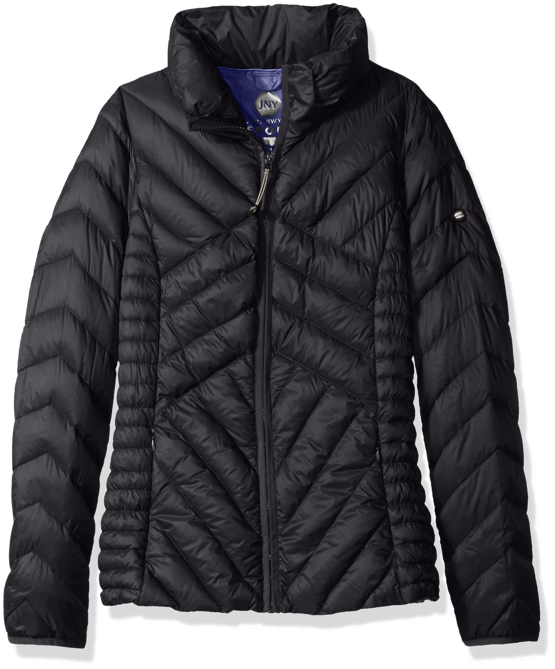 Jones New York Women's Sport Short Packable Down Jacket, Black, X-Small